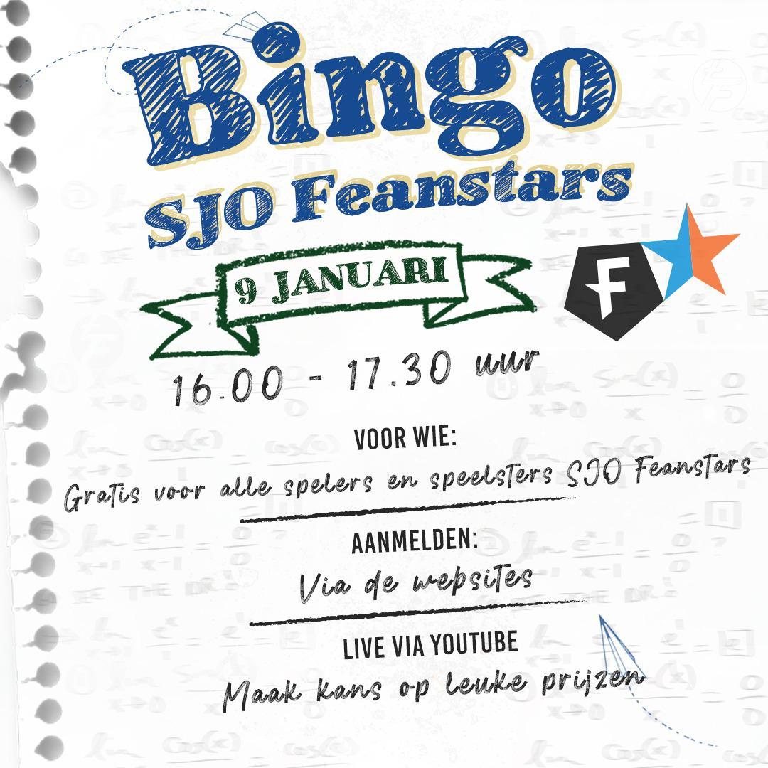 Feanstars Bingo 09-01-2021
