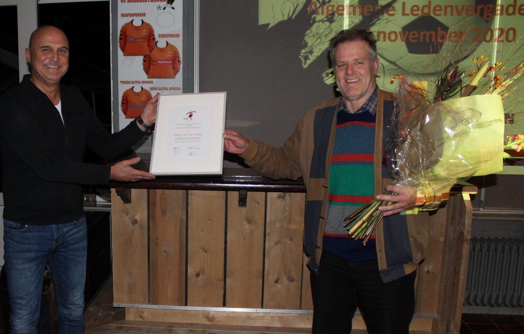 Joop van der Tuin benoemd tot erelid van v.v. Surhuisterveen